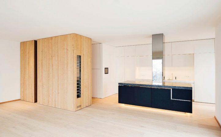 Innenausbau einer Stadtwohnung in München. Reduktion - BM online