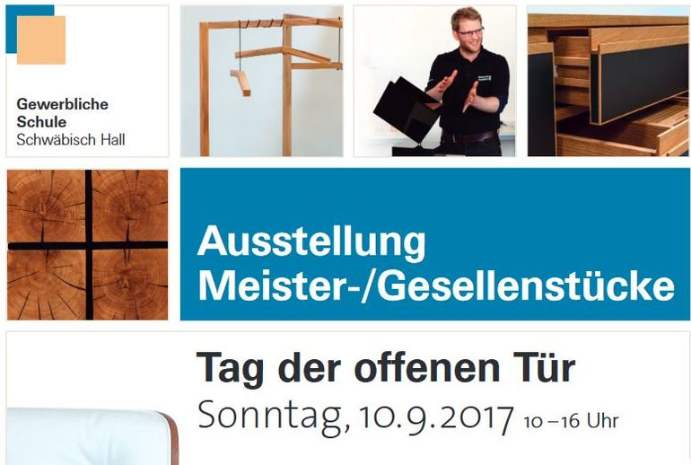 schreiner laden ein meister und gesellenst ckausstellung in schw bisch hall bm online. Black Bedroom Furniture Sets. Home Design Ideas