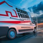 3d_rendering_of_white_delivery_van_on_the_road_at_dawn