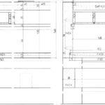 Zeichnung zum Gesellenstück in Esche und Textilbändern von Mira Hampp; Ausbildungsbetrieb: Zwinz Raum + Möbel, 70182 Stuttgart Zeichnung: Mira Hampp, 71640 Ludwigsburg