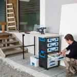 4/ Mit dem neuen Ordnungssystem richtet sich Sortimo gezielt an Schreiner, Tischler und Monteure, die vielseitige Werkzeuge sowie kleinteiliges Zubehör in multifunktionalen Transportboxen bereithalten wollen.
