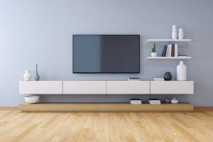 TV_cabinet_,_modern_interior_of_living_room_design_and_Cozy_Living_style__,3d_illustration